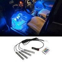1Set Interior Remote Voice Control Car LED Neon Lamp For Ford Skoda Kia Toyota Hyundai Mazda
