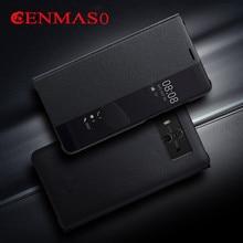 Mate 10 case 100% original Cenmaso smart case for Huawei mate 10 flip case mate10 mate10 pro cover smart view window coque