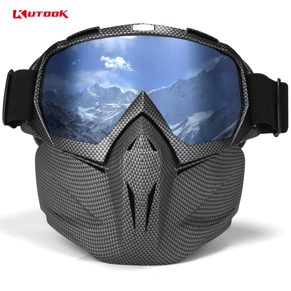 KUTOOK HD Lenti Occhiali Da Sci Occhiali Da Neve Snowboard Occhiali UV400 Anti-fog Antivento Sci Attrezzature Da Sci Maschera di Equitazione Occhiali
