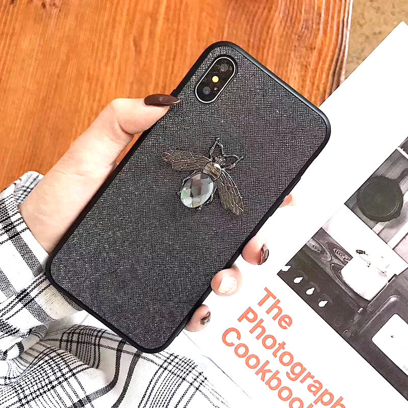Luxury Fashion brand Diamond Bee Glitter soft case for iphone 6 S 7 8 plus X XR XS Max Cute Hard Cover for iphone 7 8 6S 5 5S SE (6)