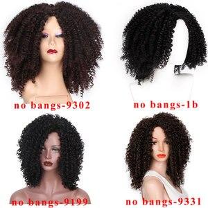 Image 2 - Peluca de pelo corto Afro de 14 pulgadas para mujer, pelo negro Natural Africano Americano, marrón, rizado, 10 colores