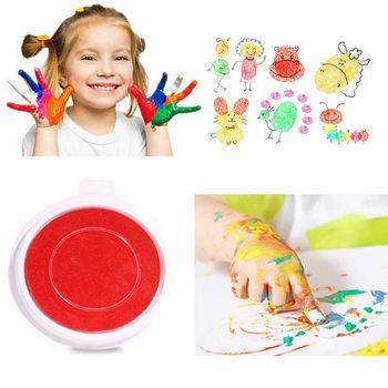 OOTDTY 1 PC Baby Spielzeug Einzigen Farbe Tinte Pad DIY Finger Malerei Lustige Große Runde Für Kinder Lernen Bildung Zeichnung spielzeug 8 Farben