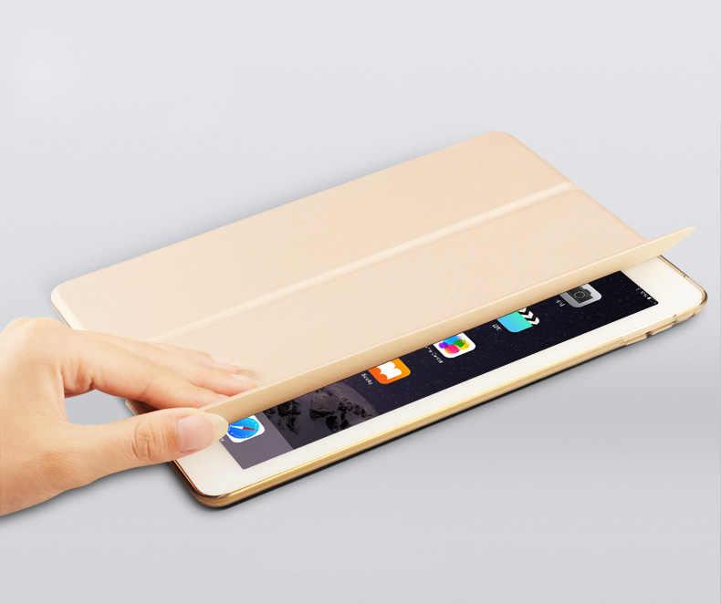 لباد البسيطة 1 2 3 ، YWVAK ييب اللون PU الذكية غطاء حالة المغناطيس إيقاظ النوم ل apple باد mini1 mini2 mini3