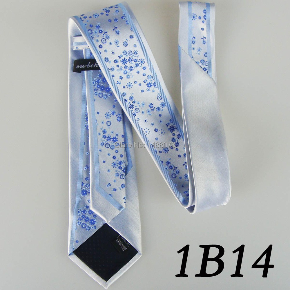 Flower Blue Ties 1B14++