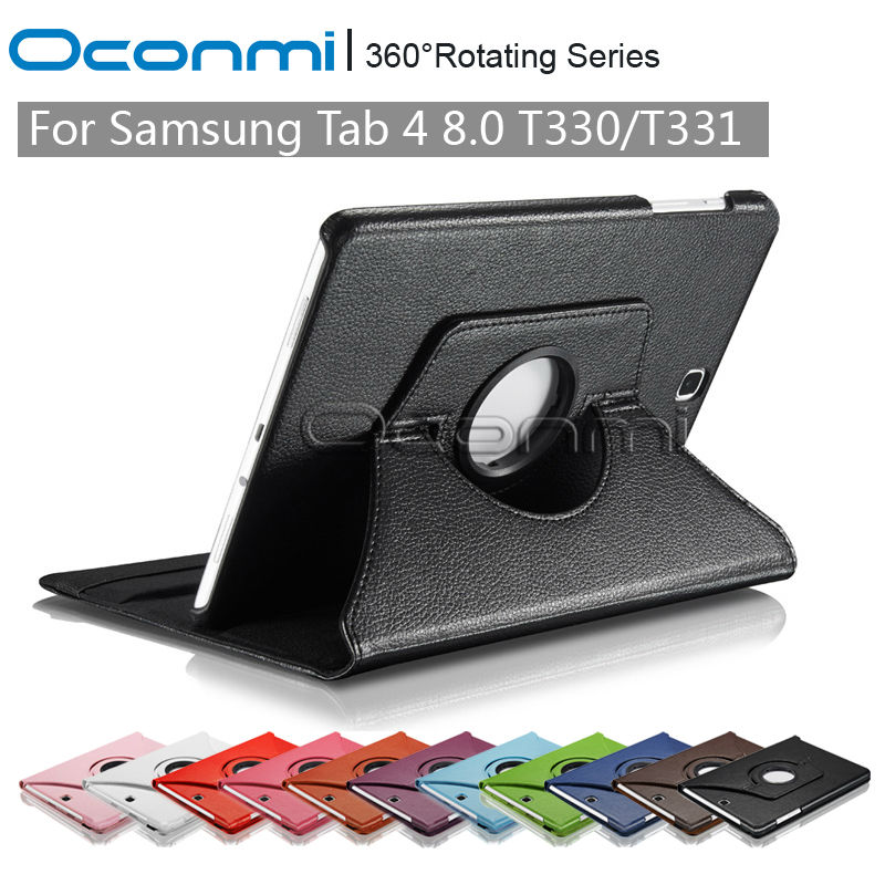 360 Rotating PU Leather case for Samsung Galaxy Tab 4 8.0 with stand function SM-T330 T331 T335 Tablet case cover sleeve стоимость