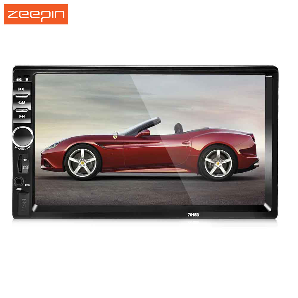 7 Inch 2 DIN Car Audio Stereo Player 7018B Universal Touch Screen Car Video MP5 Player TF SD MMC USB FM Radio Hands-free Call 7018b universal 7 inch 2 din car audio stereo player touch screen car video mp5 player tf sd mmc usb fm radio hands free call