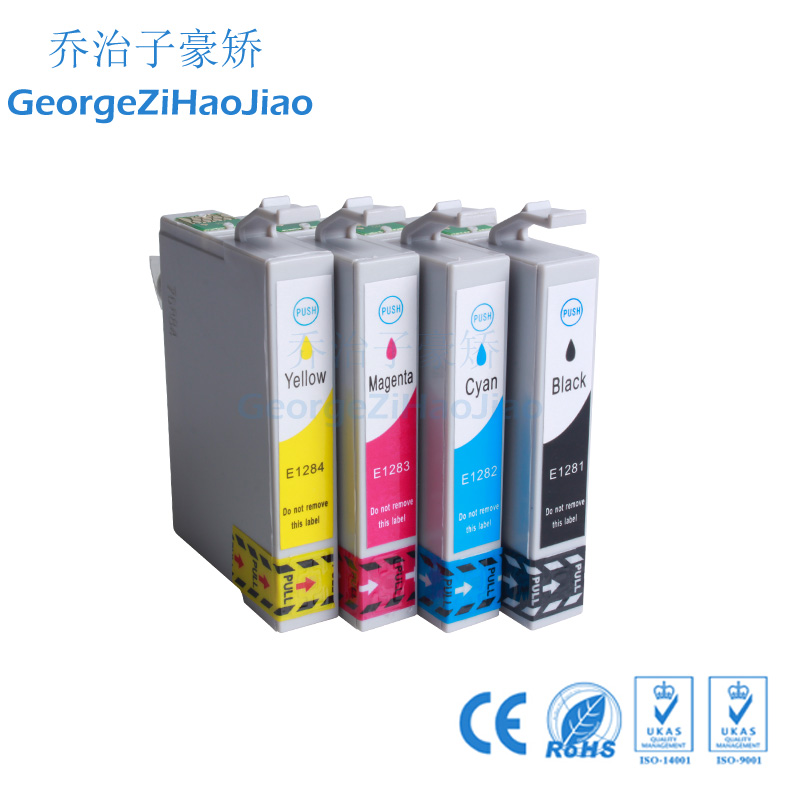 4 X 1281XL compatible ink cartridge For EPSON Stylus S22 SX125 SX130 SX230 SX235W SX420W SX425W SX430W SX435W Printer