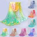 Suerte perro Diseño de Seda de Las Mujeres Bufandas de La Bufanda de Gasa De Seda Del Abrigo Del Mantón Suave Wraps