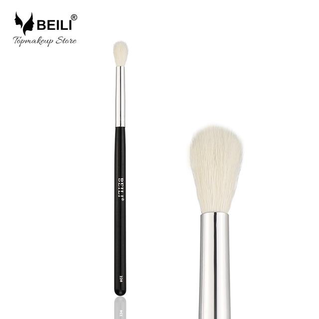 BEILI #224 Natural Goat Hair Eye Shadow Small Eye blending Makeup Brushes Glitter Handle