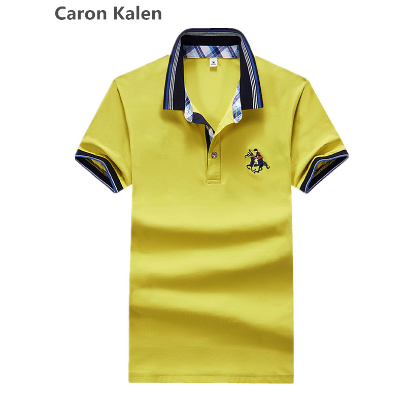 High Quality Tops&Tees Men's   Polo   shirts Business men brands   Polo   Shirts 3D embroidery Turn-down collar mens   polo   shirt 2019