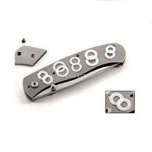 10 sztuk DIY składany nóż nylonowe podkładki składane noże śruby nóż składany akcesoria narzędzia