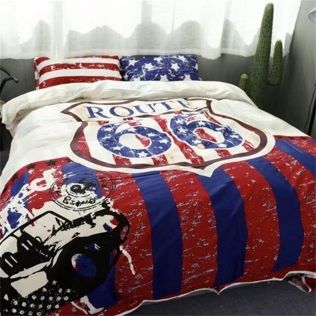 Juego de ropa de cama estilo americano clásico obtener sus