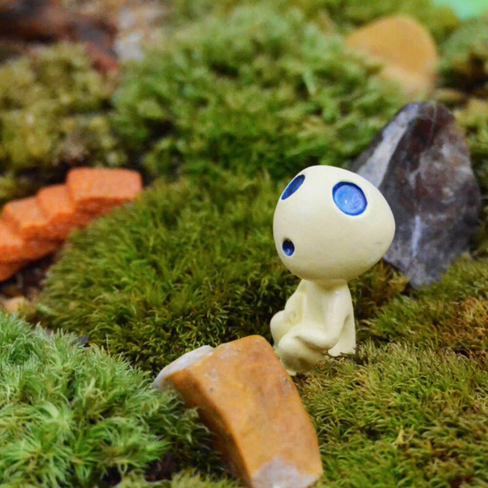 ديكور منظر طبيعي صغير للحديقة ، حلي مصغرة من الراتينج شجرة غريبة صغيرة ، مجسمات هاياو ميازاكي توتورو