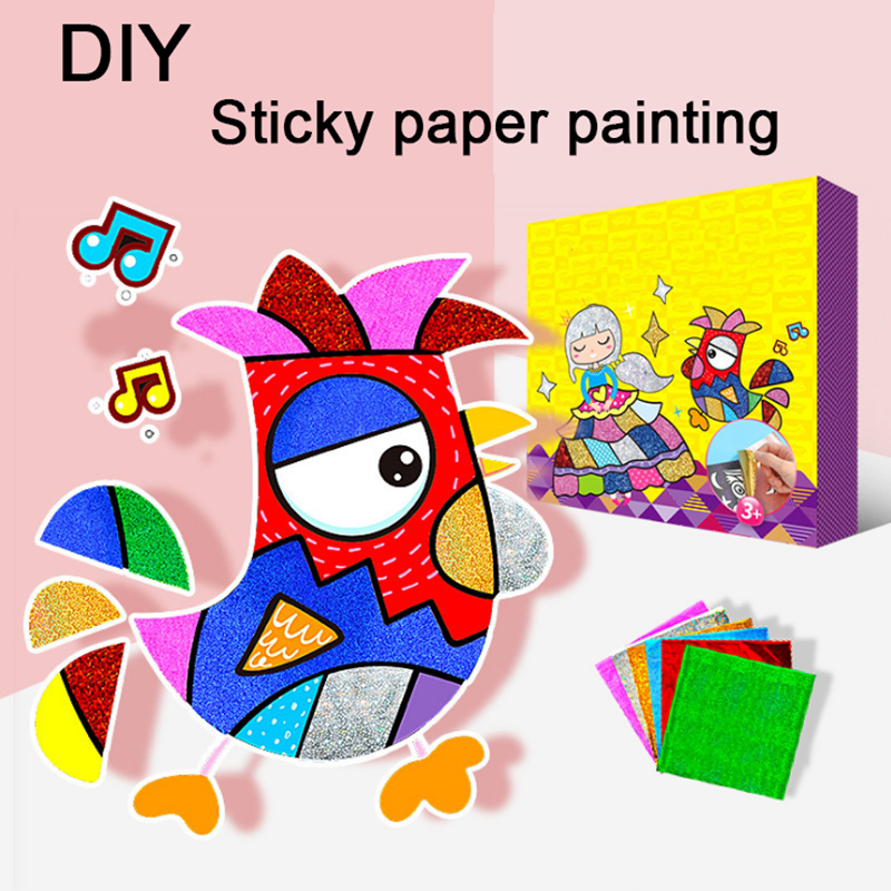 DIY Shimmer Starry Sky Colorful Starry Glitter Transfer Sticker Art Kids Puzzle Creative Education Arts And Crafts For Kids