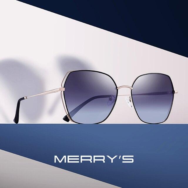 Merrys дизайн Для женщин квадратные поляризованные солнцезащитные очки для женщин Роскошные Дамская мода трендовые солнцезащитные очки UV400 защиты S6236