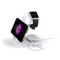 Draagbare desktop multifunctionele usb cradle dock charger laadstation stand houder voor apple iphone ipad watch