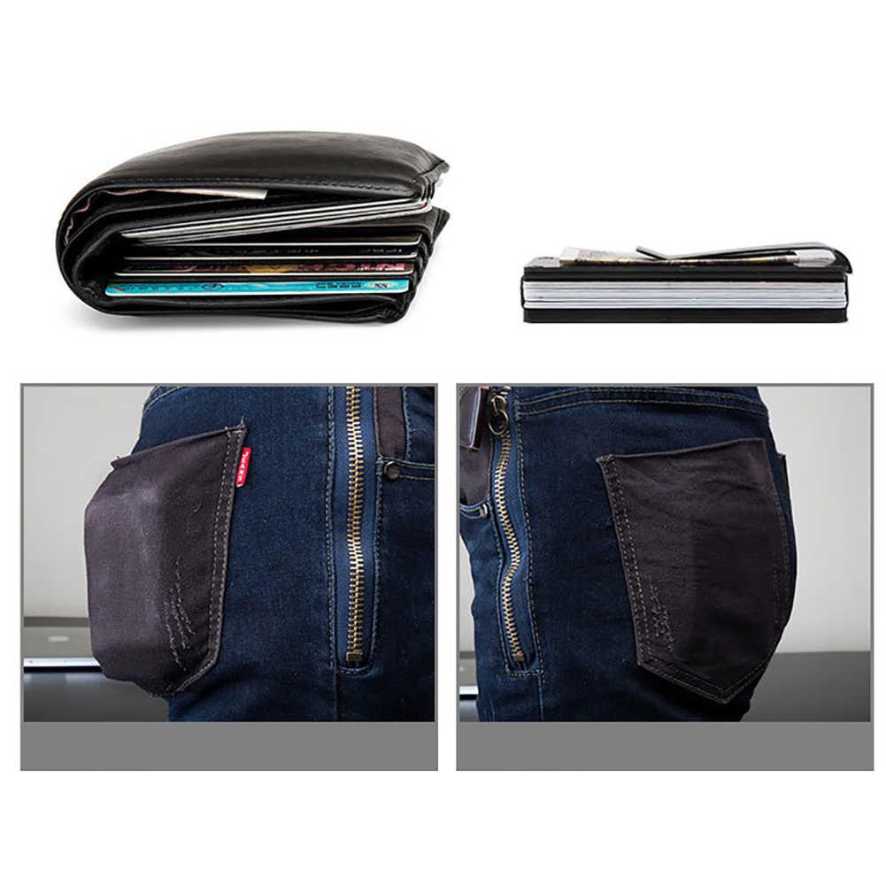 Sanwood mulheres homens carteira clipe de dinheiro clipe de ímã ultrafino bolso braçadeira caso de cartão de crédito mini criativo carteira masculina alta qualidade