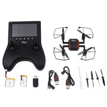 GTeng T901F 5.8G FPV Mini Drone with 4CH Camera 2.0MP 6-Axis Gyro Headless Mode RC Quadcopter FPV Monitor VS H8MINI