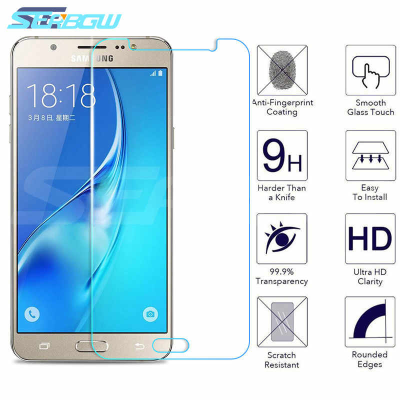 9H Protective Glass For Samsung Galaxy J3 J5 J7 A3 A5 A7 2015 2016 2017 A6 A8 Plus A9 2018 Tempered Screen Protector Glass Film
