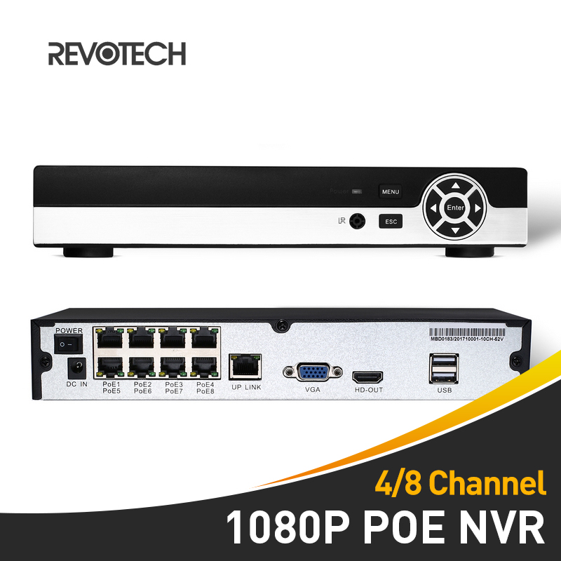 POE 4 / 8 Channel HD 1080P Network Video Recorder 48V 802.3af Standard HDMI 4 / 8 CH CCTV NVR ONVIF P2P System for IP Camera-in Surveillance Video Recorder from Security & Protection    1