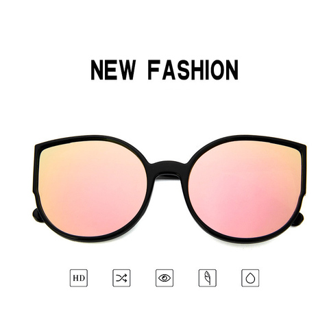 HJYBBSN Round Cat Eye Women`s Sunglasses Water Drip Trendy Vintage Sun Glasses Ladies Ray Bann Mirror Goggle Sunglasses Driver Lahore