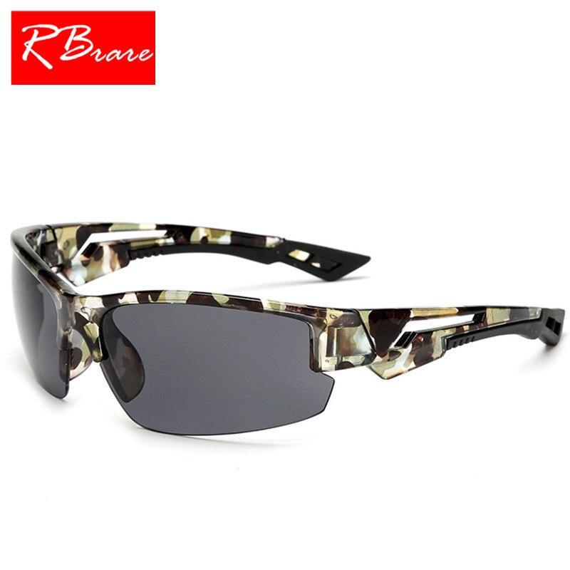 46c137905c RBRARE 2019 Vintage camuflaje al aire libre gafas De sol hombres clásico  viaje pesca gafas De sol Lunette De Soleil Femme UV400