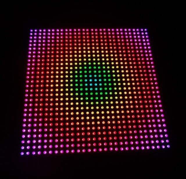 P10 APA102 full color RGB indoor LED Display unit panel 28 28pixels