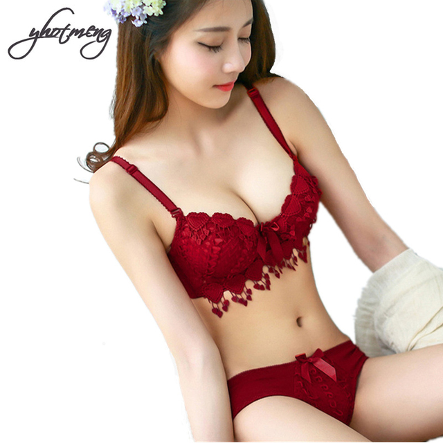 c1ea79320e Yhotmeng Japanese underwear with heart-shaped push up bra set sexy lingerie  thin lace bra