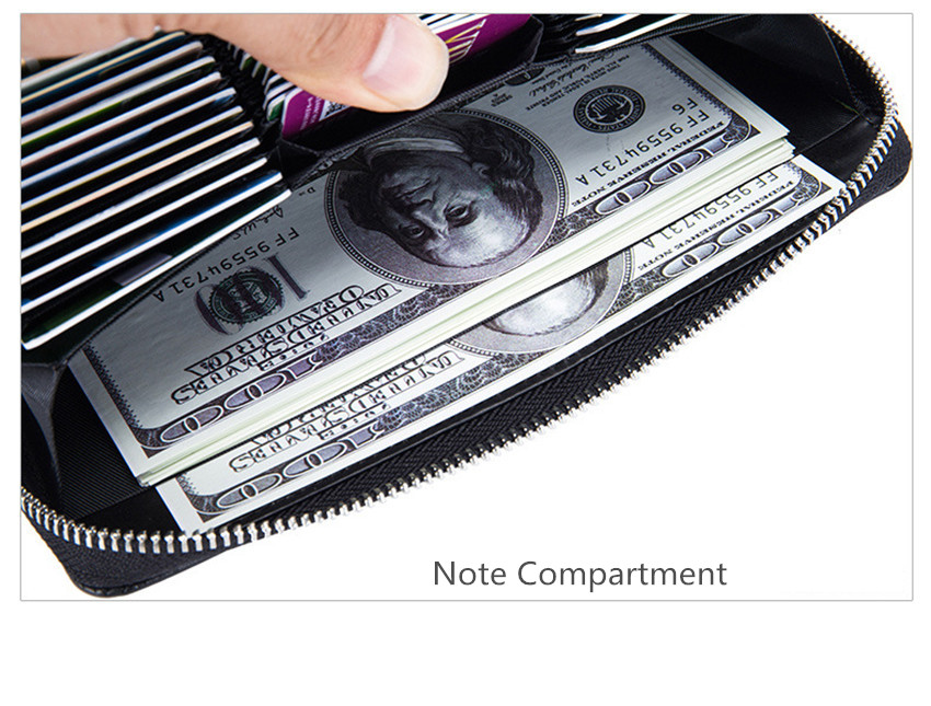 RFID Bag Oil Wax Womens Leather Handbags Fashion Women Wallets Long Leather Purse Coin Wallet Female Card Holders Ladies W205