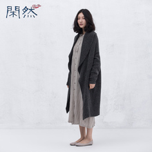 Xianran Women Cardigan Sweater Casual Loose Coat Knitted Flowers Irregular Long Sleeve Outwear High Quality Free Shipping