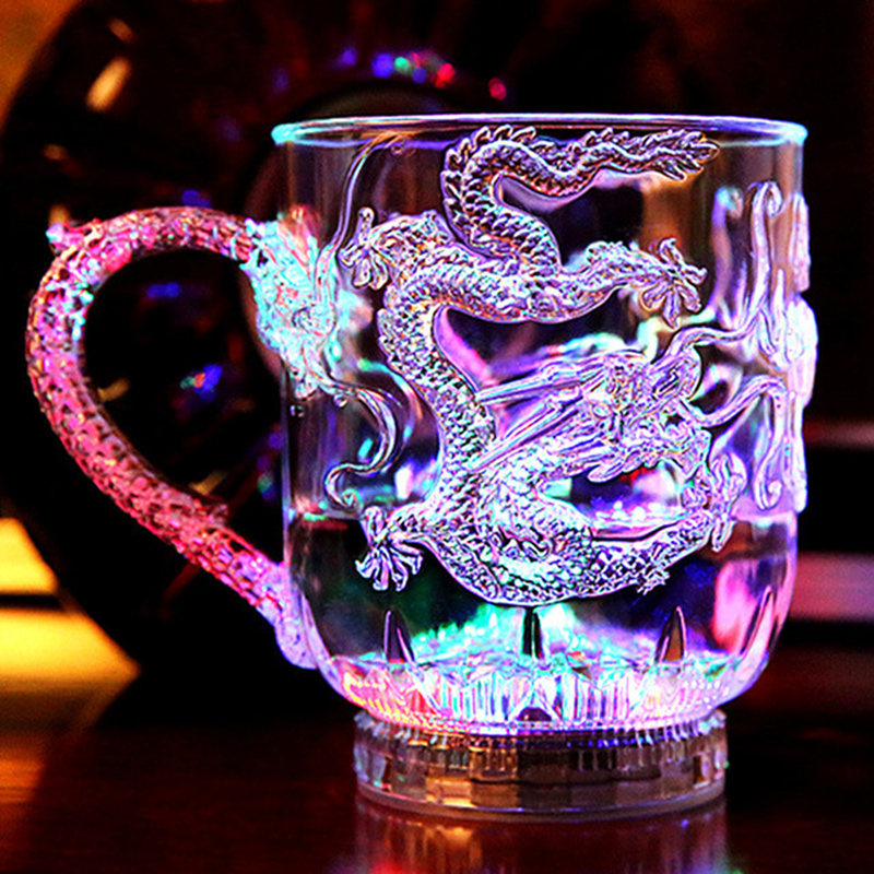 New exotic LED Colorful Flashing Cup,Dragon Wine Cup, wedding, bar, celebration props glowing toys
