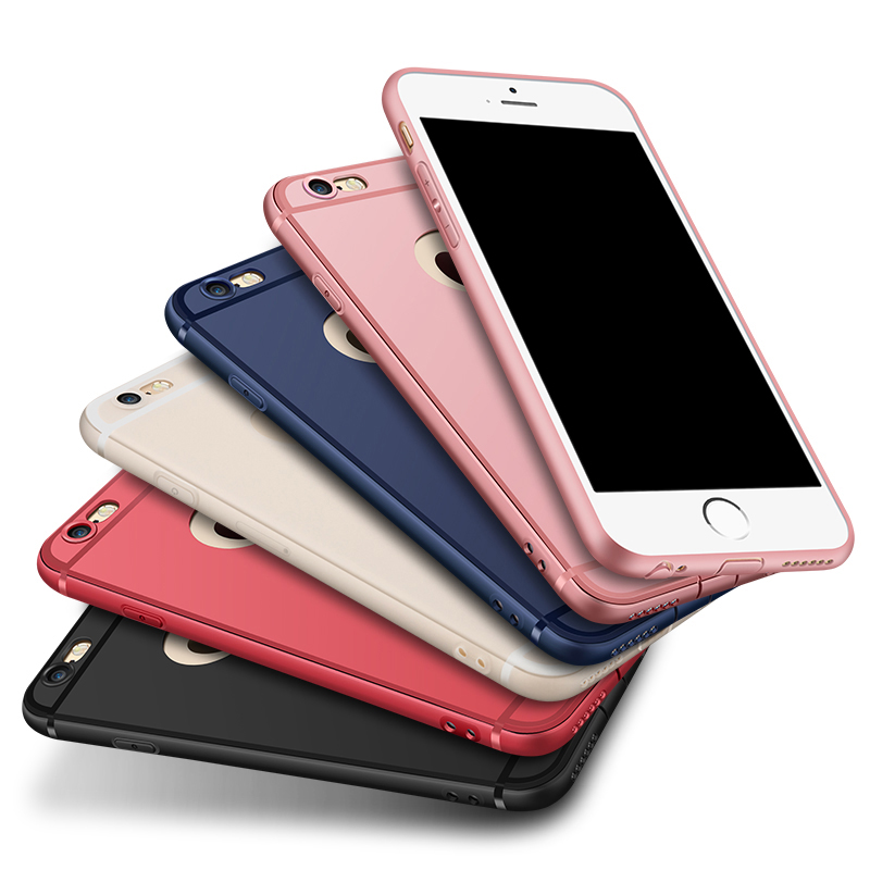 for iPhone 6 6S 7 7 Plus Case 0.6mm Silicone Matte texture Own Headphone jack and charging hole dustproof plug for iPhone 7Plus