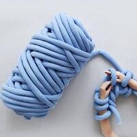 1100g/Ball 60 Meters Natural Wool Chunky Yarn Felt Wool Roving Yarn for Spinning Hand Knitting Spin Yarn Diy Blanket Supplies