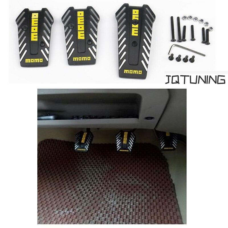 JQTUNING-MOMO Racing Pedals Universal Manual Accelerator Pedals Brake Pedal Clutch Pedals JQ-PAD002