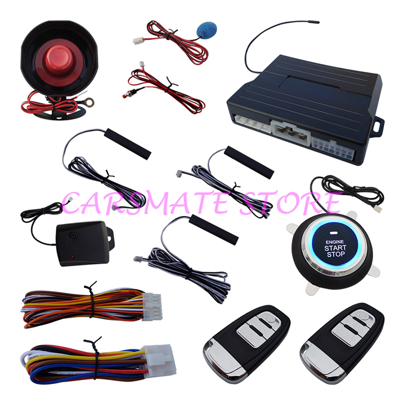 PKE Car Alarm Smart Key Car Sec
