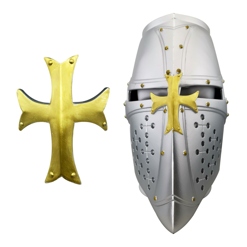 Medieval Full Half Face Visor Knight Helmet Fancy Dress Hat Costume Accesory