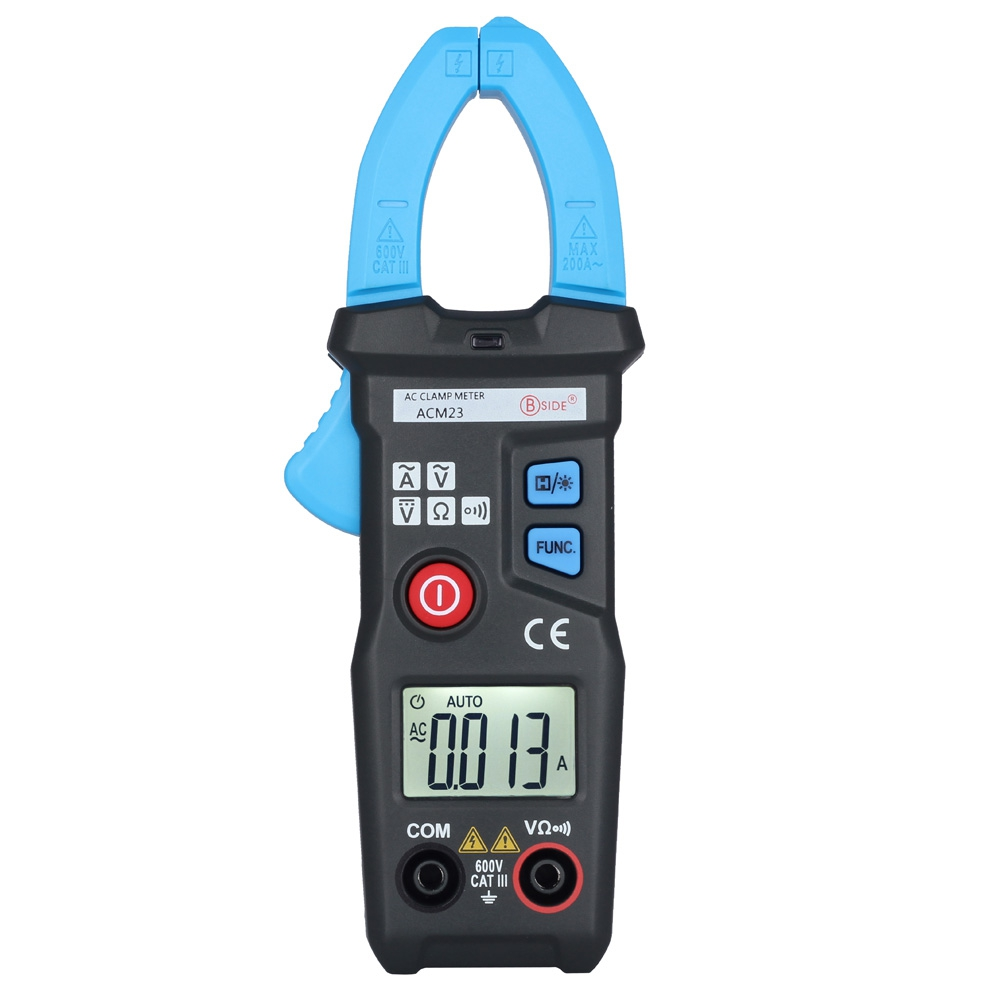 BSIDE ACM23 Smart AC Digital Clamp Meter 6000 Counts LCD Baklight Display Electrical Detection Circuit Tools