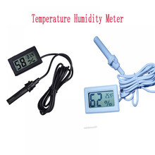 Indoor Outdoor Embedded Thermometer Hygrometer Temperature Mini LCD Digital Temperature Sensor Humidity Meter Gauge Instruments