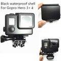 Для GoPro Водонепроницаемый Футляр Плотные Коробка Gopro Hero4/Hero3 + 30 М Подводный Защитный Кожух Для GoPro Аксессуары (Черный)