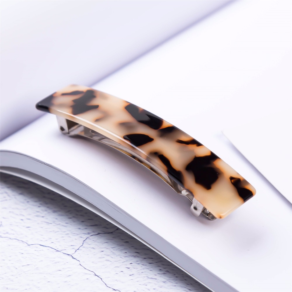 Tortoise Shell Acetate Fashion Hair Clip Hairgrips Barrettes   Headwear   Hair Accessories for Women