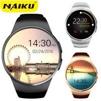 NAIKU Original KW18 Full Round IPS Heart Rate Smart Watch MTK2502 BT4.0 Smartwatch for ios and Android Samsung Intelligent Watch