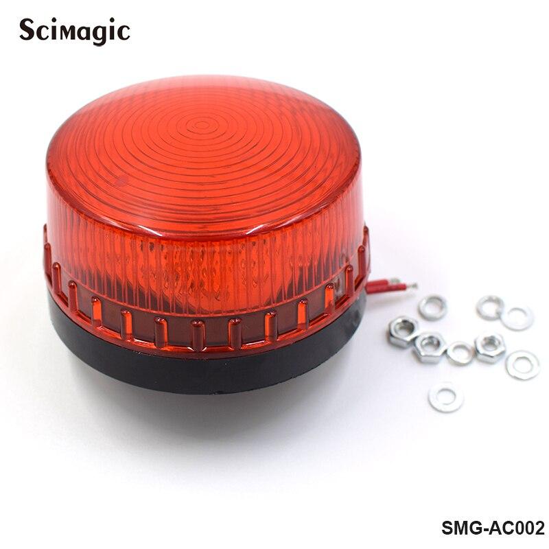 DC 12V Mini Wired Strobe Siren Signal Warning Light Flash LED Lamp Highlight Alarm Lamp