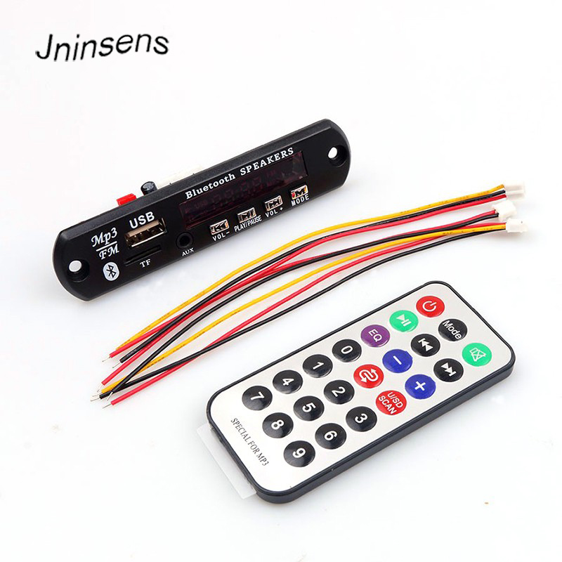DIY Bluetooth MP3 Decoding Board Module Car Aux Audio Player Speaker TF Card Slot / USB / FM with Remote Control Wholesale