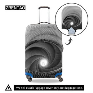 gray luggage covers