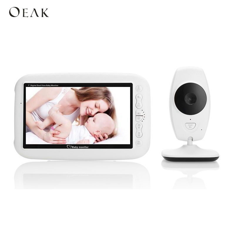 Oeak 7.0 inch Baby Phone Camera IR Night Vision Intercom 4 Lullabies Temperature Monitor Baby Camera Video Babies Sleep MonitorOeak 7.0 inch Baby Phone Camera IR Night Vision Intercom 4 Lullabies Temperature Monitor Baby Camera Video Babies Sleep Monitor