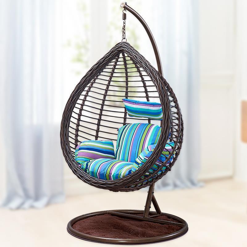 Hanging basket Rattan Adult indoor swing Double balcony Single nest Hammock cradle chair