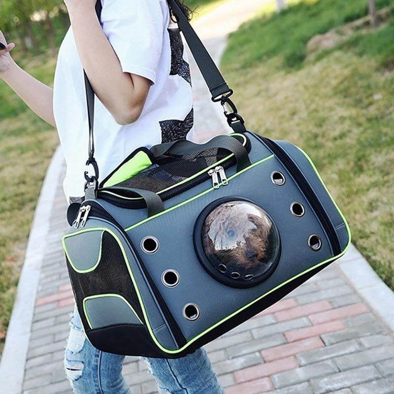 Pet Carrying Case Bag Comfortable Space Capsule Portable Cat Handbag Breathable Dog Out Bag Strap Carrier