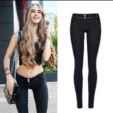Potlood vrouw jeans Heupen