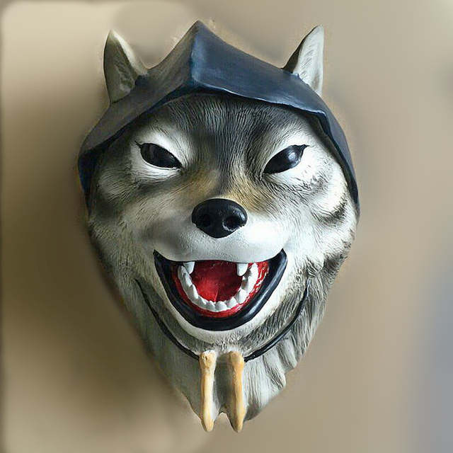 US $49 0 |The Werewolves of Miller's Hollow Werewolf Mafia Wolf Game Mask  New Moon The Village Props-in Party Masks from Home & Garden on