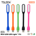 TSLEEN 1Pcs Bright Flexible Mini USB LED Light Lamp For Laptop/Power Bank/Computer/Desk Reading Colorful Lamps Flashlight